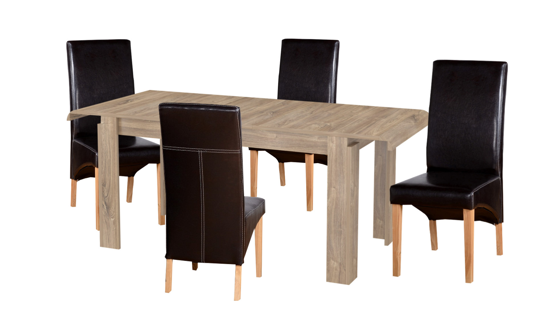 Dining Room Furniture Set Extendable Table 4 & 6 Chairs