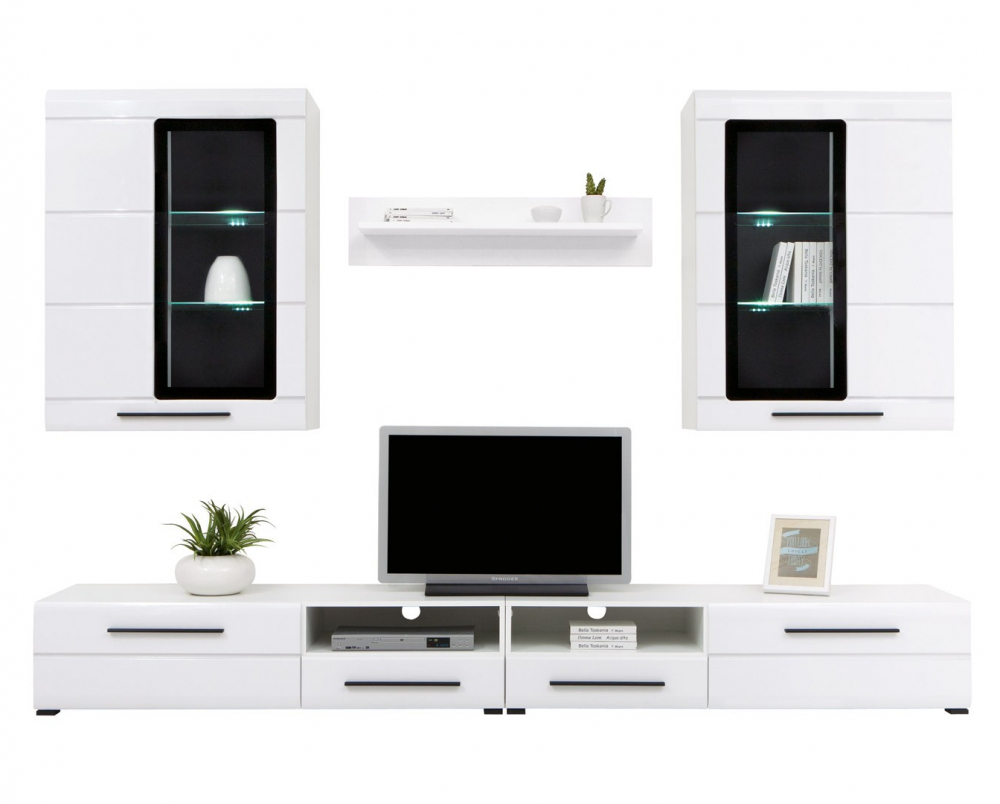 Living room furniture set glass cabinet cupboard tv unit - Glass display units for living room ...