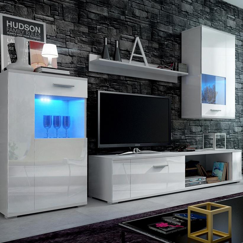 Salon ensemble de meubles Meuble TV Display Stand Mural Placard Cabinet