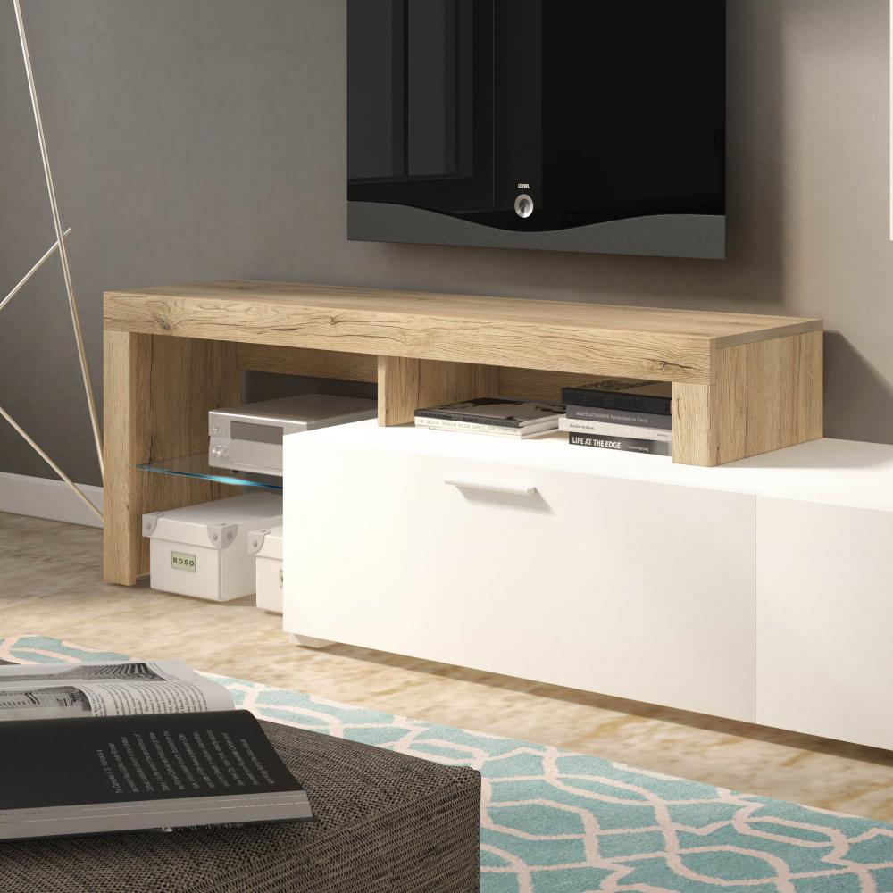White Tv Cabinet Living Room Furniture: Living Room Set Furniture Display Tv Unit Cabinet LED