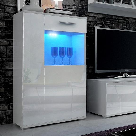 Living Room Furniture Set TV Unit Cabinet Glass Display
