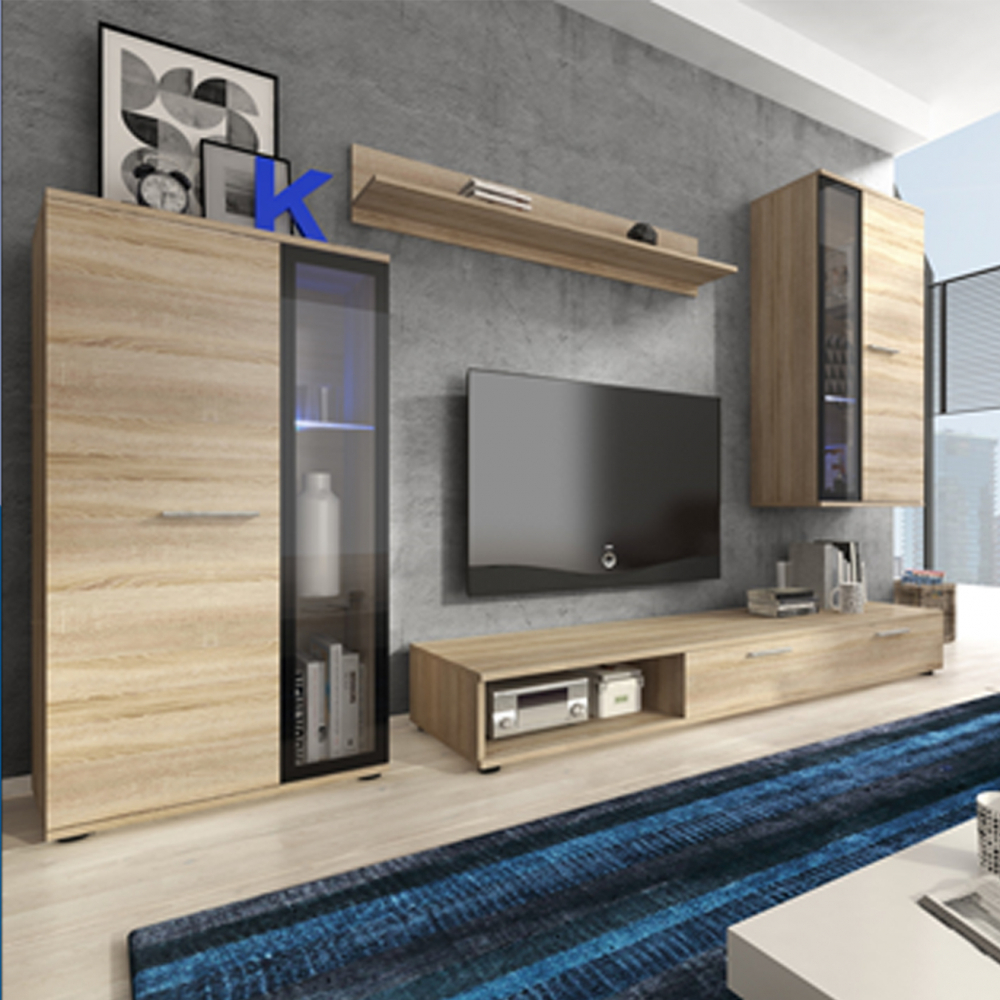 Living Room Furniture Cabinets: Living Room Furniture Set Tv Unit Display Stand Wall