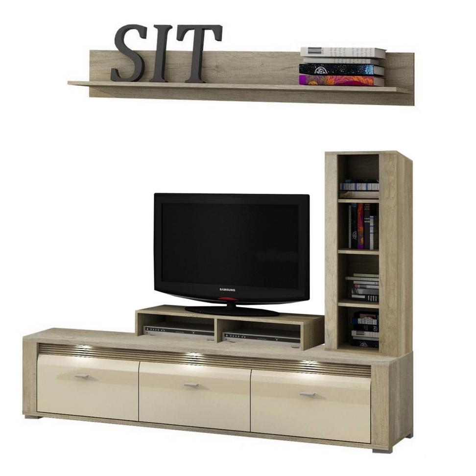 Living Room Furniture Tv Stand Unit Shelf Cabinet LED