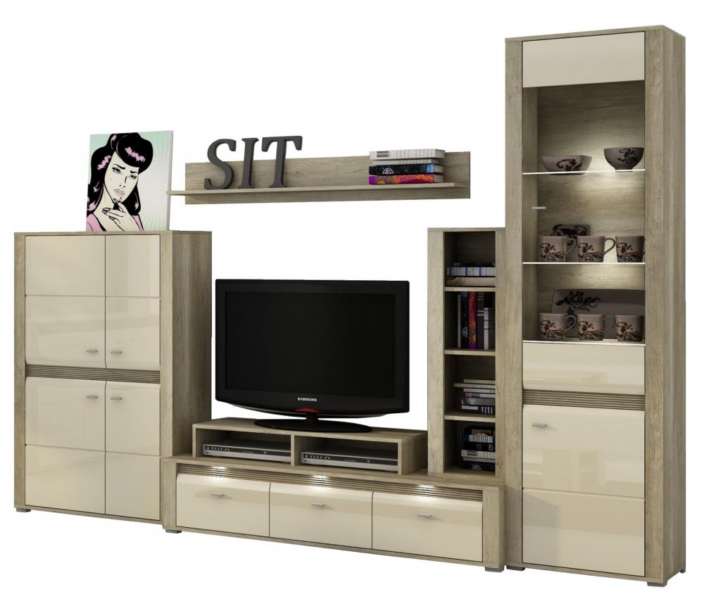 Living Room Furniture Set Display Unit Floating Shelf TV